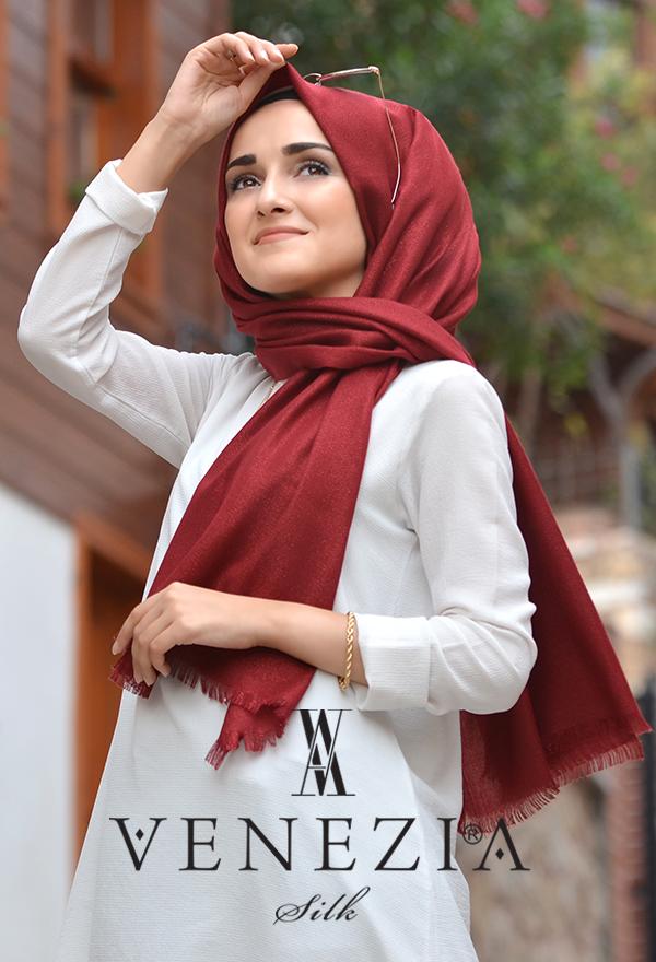Sura Simli Dokuma Cotton Şal 35279-016