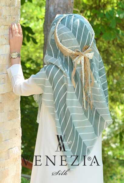 SURA İPEK - Sura Zikzak Desen Cotton Şal 35269-002 (1)