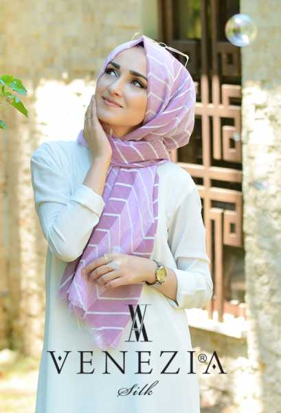 SURA İPEK - Sura Zikzak Desen Cotton Şal 35269-003 (1)
