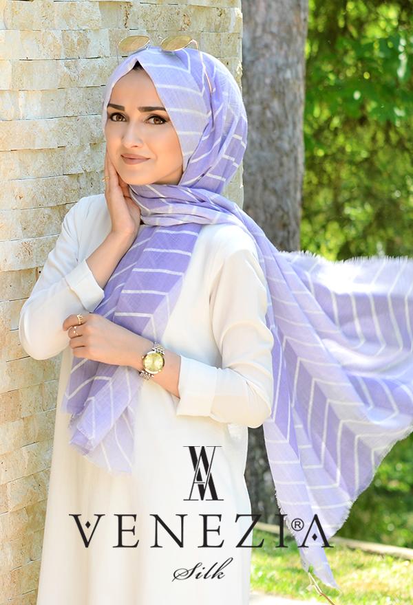 Sura Zikzak Desen Cotton Şal 35269-004