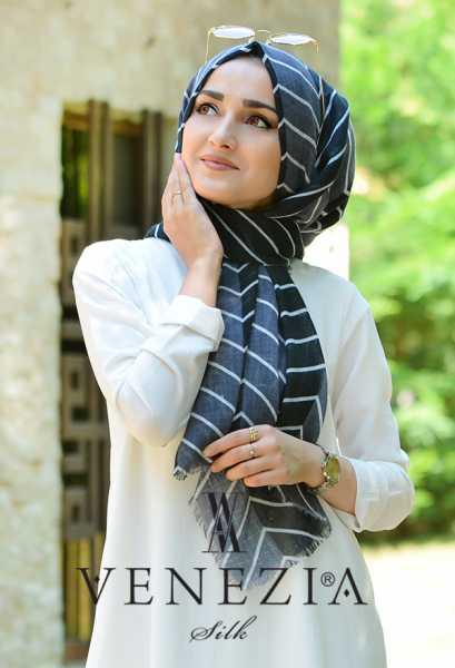 SURA İPEK - Sura Zikzak Desen Cotton Şal 35269-008 (1)
