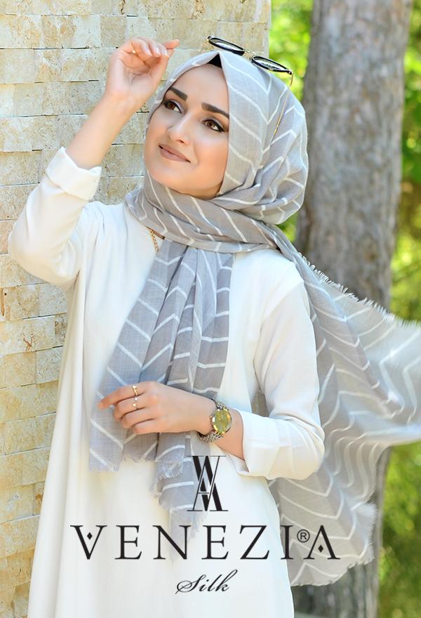 Sura Zikzak Desen Cotton Şal 35269-001