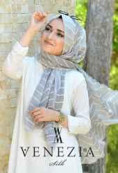 Sura Zikzak Desen Cotton Şal 35269-001 - Thumbnail