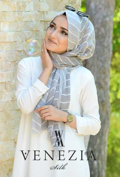 SURA İPEK - Sura Zikzak Desen Cotton Şal 35269-001 (1)