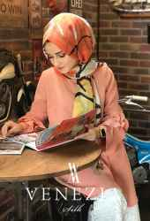 U.s. Polo Assn. Rengarenk Desen Fileli Cotton Şal 31307-012 - Thumbnail