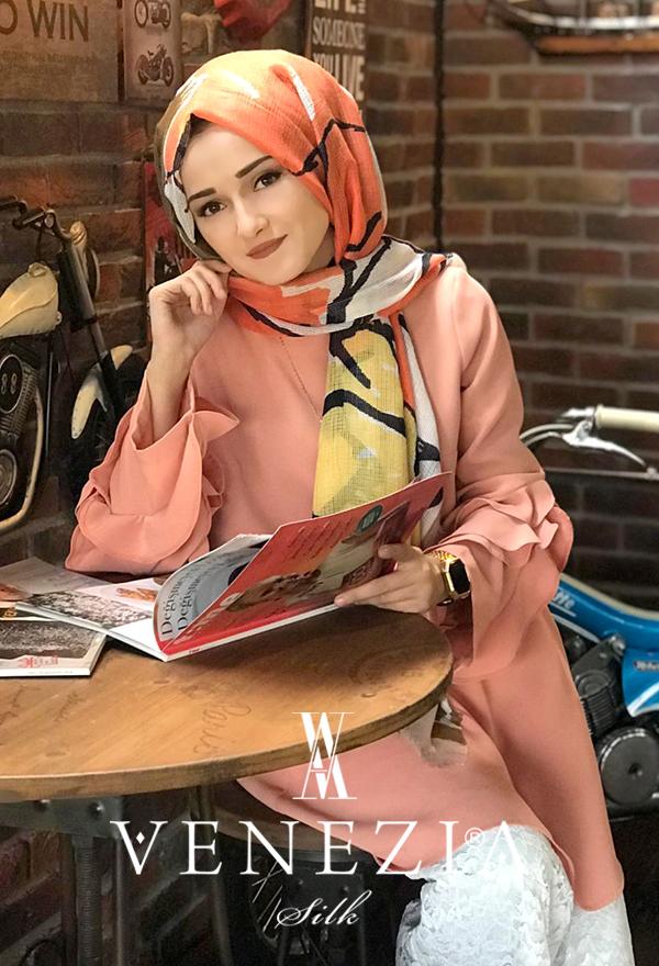 U.s. Polo Assn. Rengarenk Desen Fileli Cotton Şal 31307-012