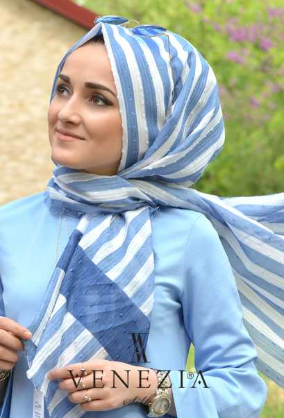 Us. Polo Assn. - U.s Polo Assn. Şerit Desen Cotton Şal 35249-003 (1)