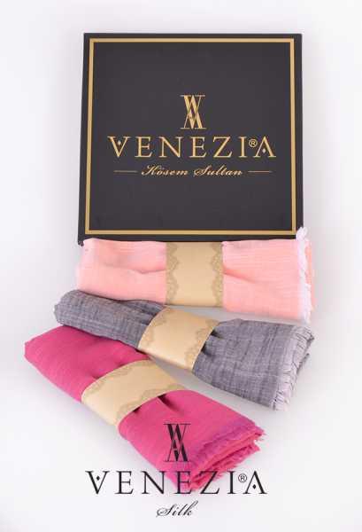 VENEZİA SİLK - Venezia 3′lü Keten Şal Kombin 35231-10-20-24 (1)