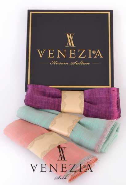 VENEZİA SİLK - Venezia 3'lü Keten Şal Kombin 35231-9-11-12 (1)