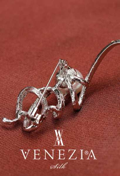 VENEZİA WEAR - Venezia Silk Kristal Parlak Taşlı Aksesuar Broş BRS145 (1)