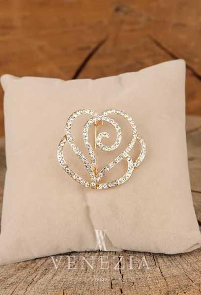 VENEZİA WEAR - Venezia Silk Kristal Parlak Taşlı Aksesuar Broş BRS267 (1)