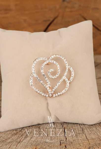 VENEZİA WEAR - Venezia Silk Kristal Parlak Taşlı Aksesuar Broş BRS268 (1)