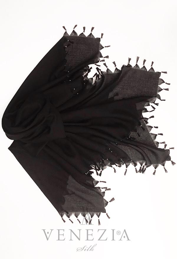 Venezia Silk Püsküllü İç Tülbent Topuz Tokası Takımı 35281-001
