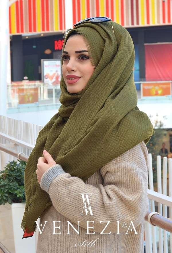 AKEL - Venezia Silk Sık Fileli Cotton Şal 31038-002 (1)