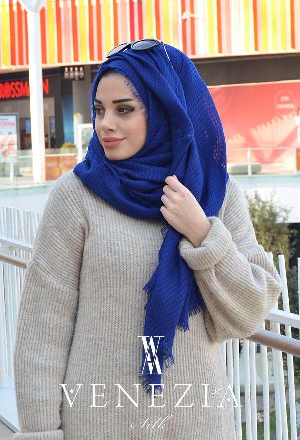 AKEL - Venezia Silk Sık Fileli Cotton Şal 31038-005 (1)