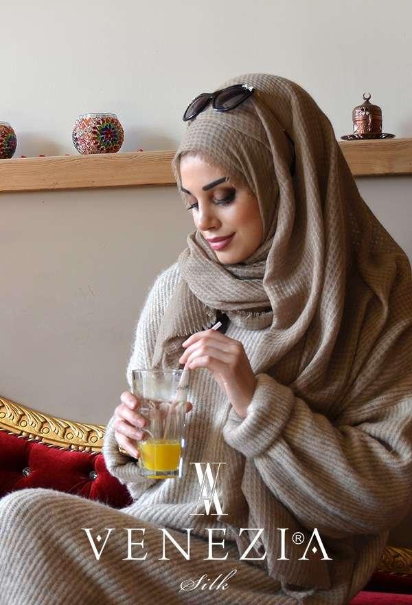 AKEL - Venezia Silk Sık Fileli Cotton Şal 31038-023 (1)
