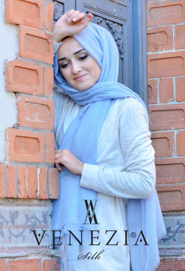 Venezia Silk Tam Fileli Cotton Şal 31310-025