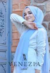 Venezia Silk Tam Fileli Cotton Şal 31310-025 - Thumbnail