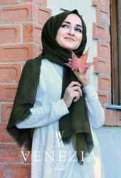 Venezia Silk Tam Fileli Cotton Şal 31310-002 - Thumbnail