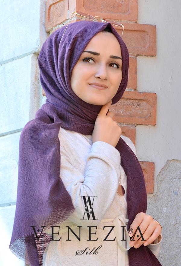Venezia Silk Tam Fileli Cotton Şal 31310-021