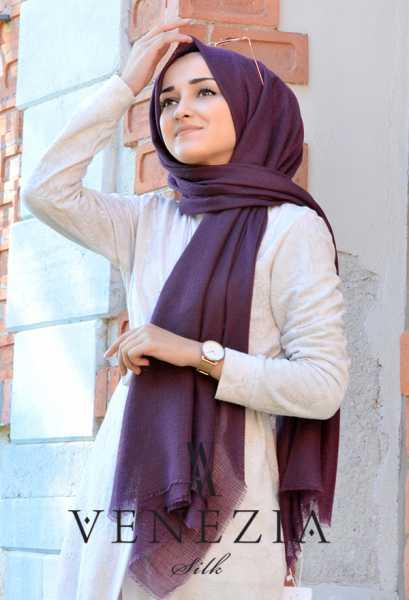 Us. Polo Assn. - Venezia Silk Tam Fileli Cotton Şal 31310-021 (1)