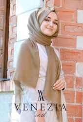 Venezia Silk Tam Fileli Cotton Şal 31310-017 - Thumbnail