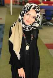 Venezia Silk Zebra Desen Fileli Cotton Şal 31306-008 - Thumbnail