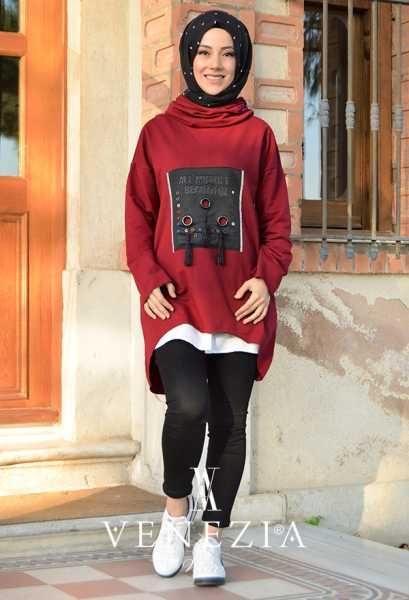 Safiye Ekiz - Venezia Tasarım Tesettür Tunik 3670-001 (1)