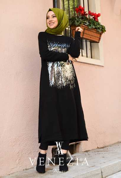 Safiye Ekiz - Venezia Tasarım Tesettür Tunik 3685-001 (1)