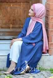 Venezia Wear Düz Renk Kuşaklı Kimono 8020-003 - Thumbnail