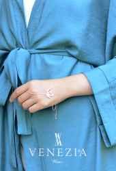 Venezia Wear Düz Renk Kuşaklı Kimono 8020-001 - Thumbnail