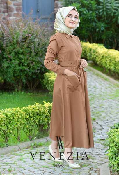 VENEZİA WEAR - Venezia Wear Kemerli Elbise 2883-002 (1)