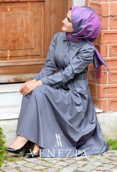 VENEZİA WEAR - Venezia Wear Kemerli Elbise 2883-003 (1)