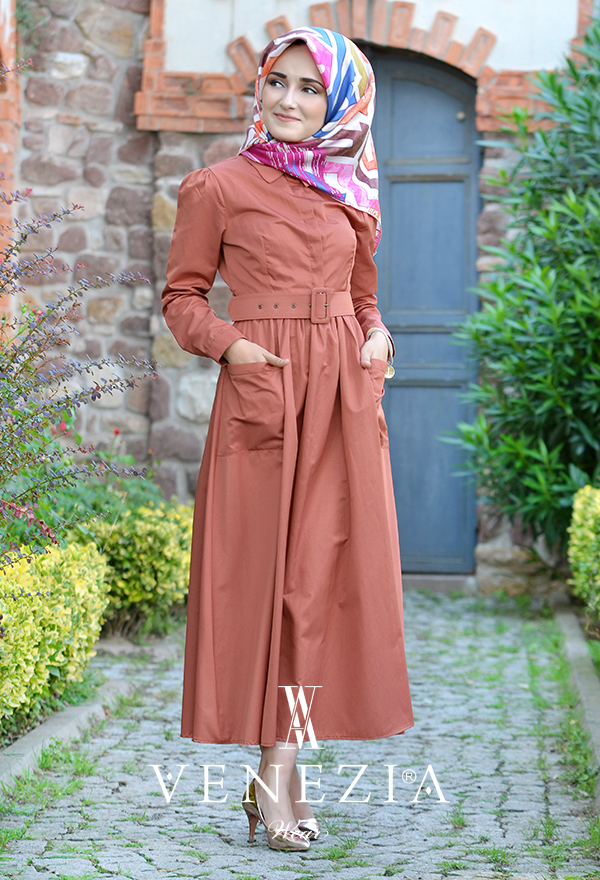 Venezia Wear Kemerli Elbise 2883-001