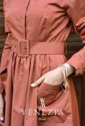 Venezia Wear Kemerli Elbise 2883-001 - Thumbnail