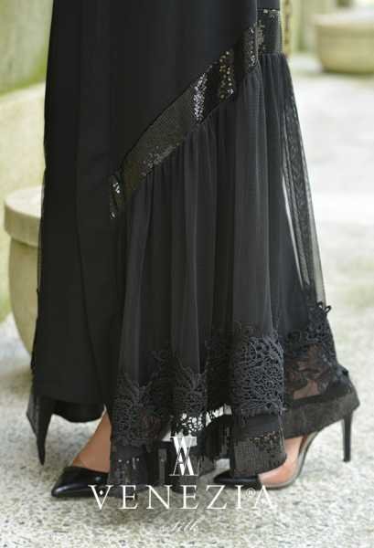 VENEZİA WEAR - Venezia Wear Payetli Abaya 8011-001 (1)