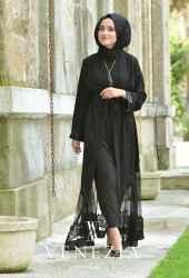 Venezia Wear Payetli Abaya 8011-001 - Thumbnail
