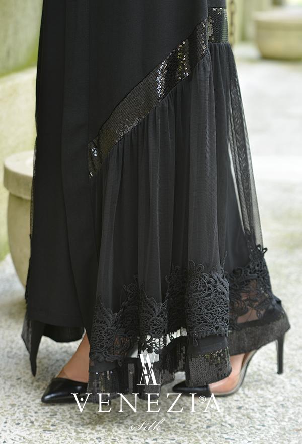 Venezia Wear Payetli Abaya 8011-001
