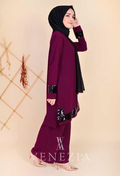 VENEZİA WEAR - Venezia Wear Pul Payetli Takım 35296-002 (1)